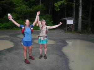 Finishing at Shi Shi Beach Trailhead.